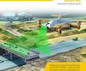 Trwają prace nad wprowadzeniem drona Sky Tronic do analizy 3D obiektów budowlanych Budimex